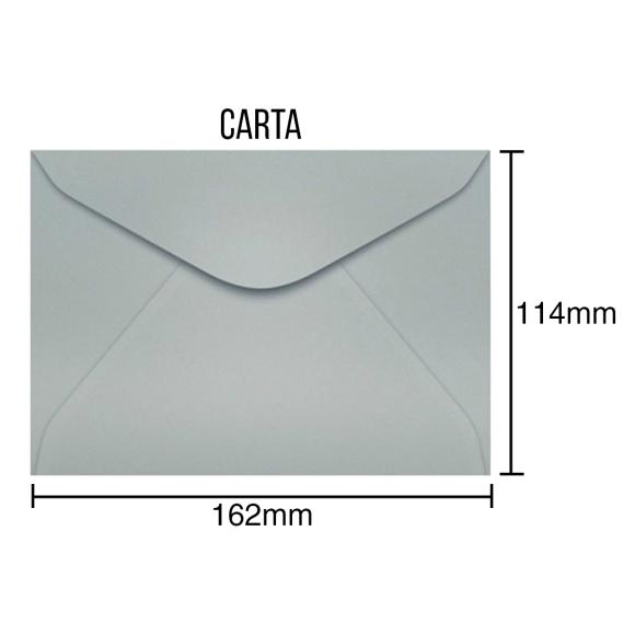 Envelopes para Carta Prateado - 100 Unidades - Scrity