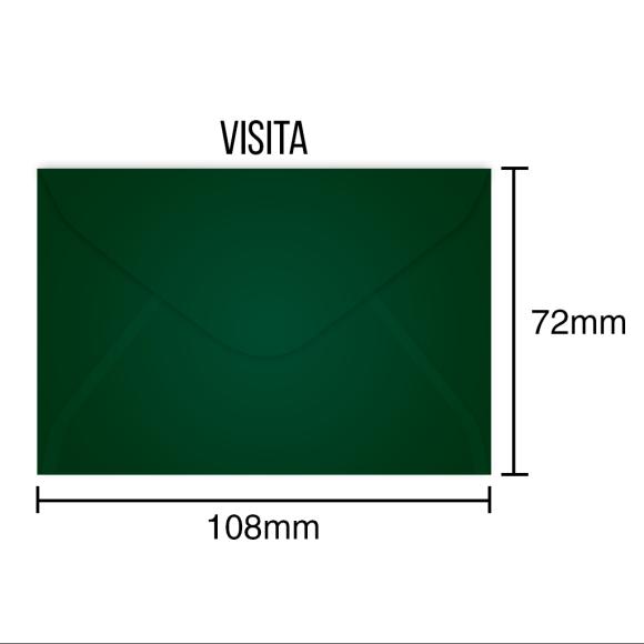 Envelopes Para Cartão de Visita Verde - 100 Unidades - Scrity
