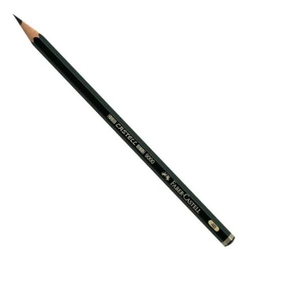 Lápis Grafite 9000 4B - Sextavado - Faber-Castell