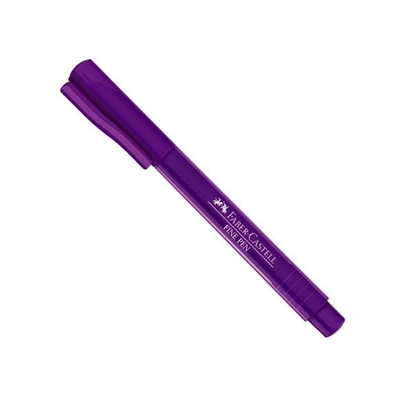 Caneta Fine Pen Carmim (Roxa) 0.4 - Faber-Castell
