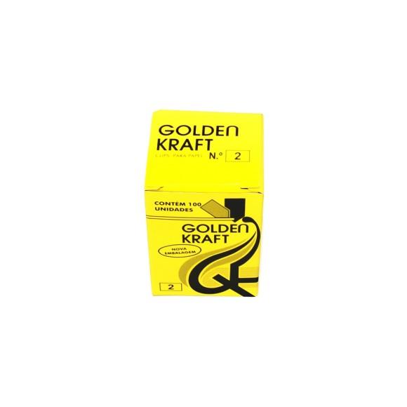 Clips Para Papel nº2 - 100 Unidades - Golden Kraft