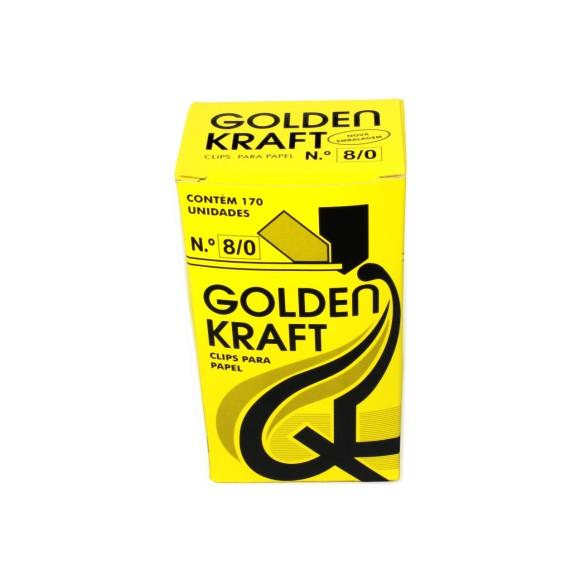 Clips Para Papel nº8/0 - 170 Unidades - Golden Kraft