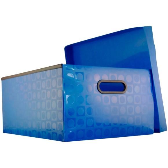 Caixa Organizadora Grande - Azul - DAC