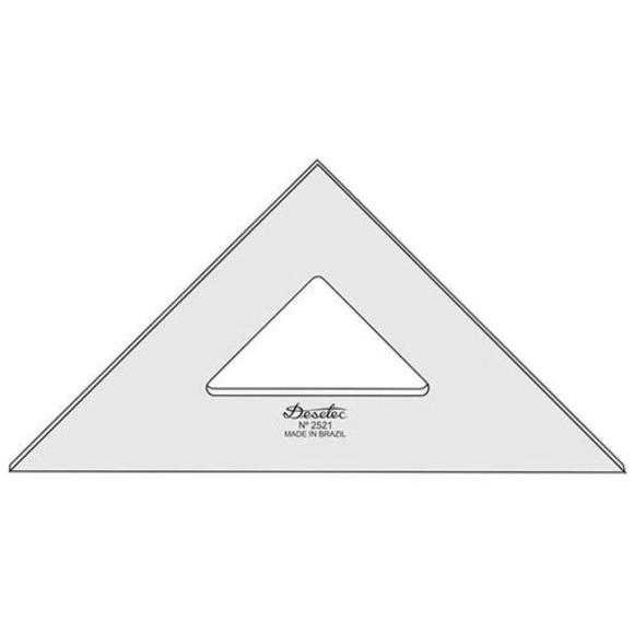 Esquadro Sem Escala de Acrílico 2521 - 21cm - Trident