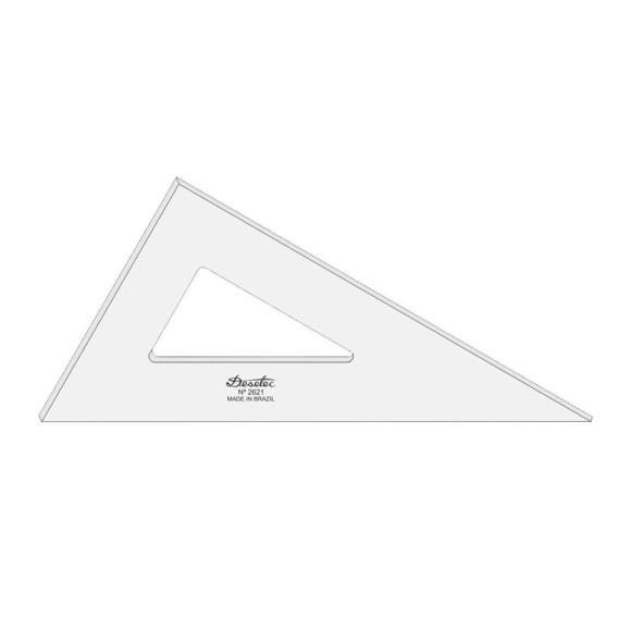 Esquadro Sem Escala de Acrílico 2621 - 21cm - Trident