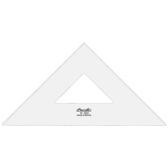 Esquadro Sem Escala de Acrílico 2532 - 32cm - Trident