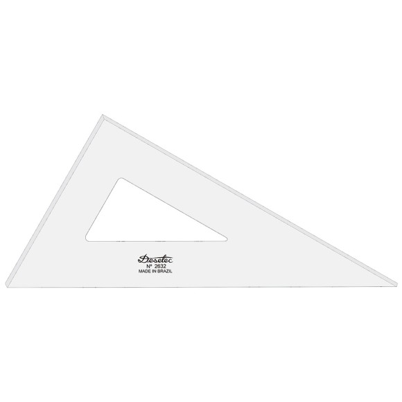 Esquadro Sem Escala de Acrílico 2632 - 32cm - Trident