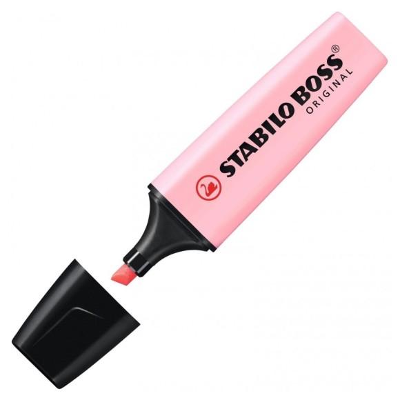 Marca-Texto Stabilo Boss Original - Rosa Pastel - Stabilo