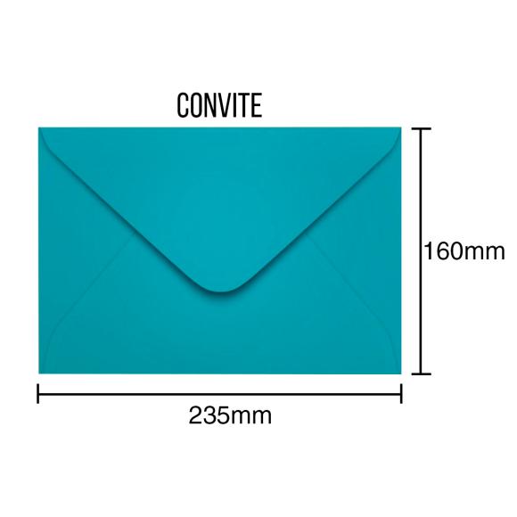 Envelopes Para Convite Azul - 100 Unidades - Scrity