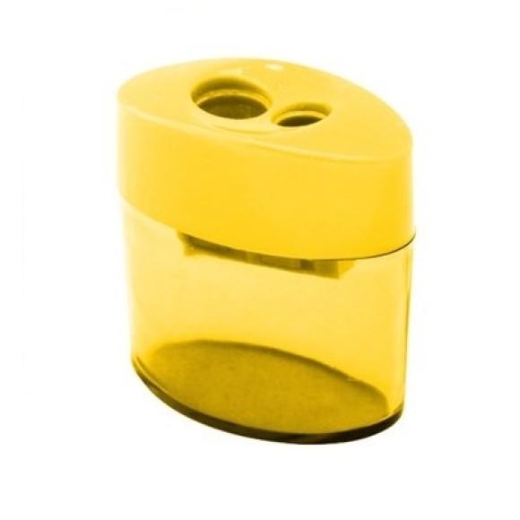 Apontador Escolar 346 Com Depósito 2 Furos Cis - Amarelo