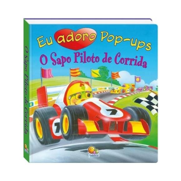 Livro Eu adoro Pop-ups! O Sapo Piloto de Corrida