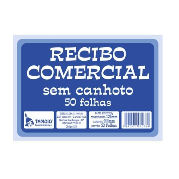 Pacote c/ 20 Unidades - Recibo Comercial s/ Canhoto - Tamoio