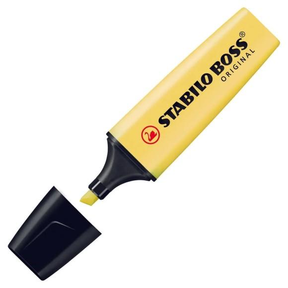 Marca-Texto Stabilo Boss Original - Amarelo Pastel - Stabilo