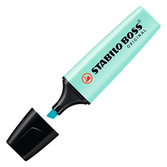 Marca-Texto Stabilo Boss Original - Azul Pastel - Stabilo