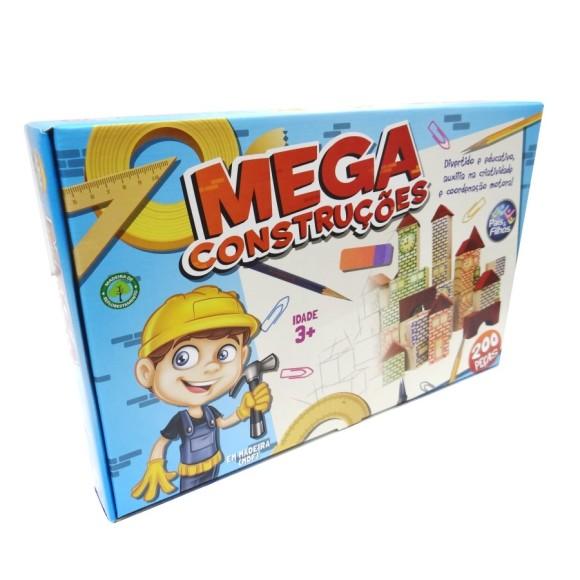Brinquedo para Montar 200 peças - Mega Construções - Pais e Filhos