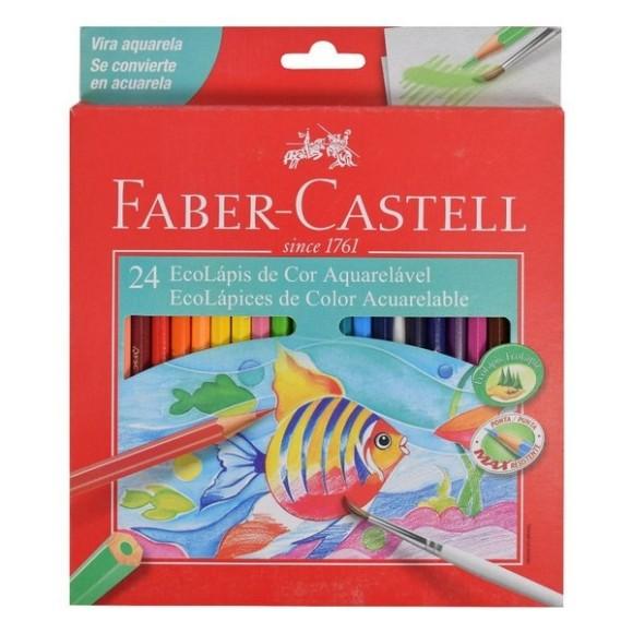 Lápis Aquarelável 24 Cores Faber-Castell