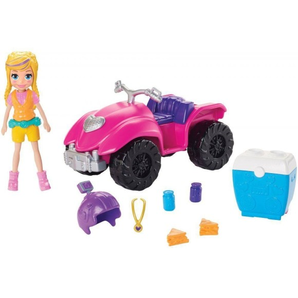 Boneca Polly Pocket - Quadriciclo Fabuloso - Mattel