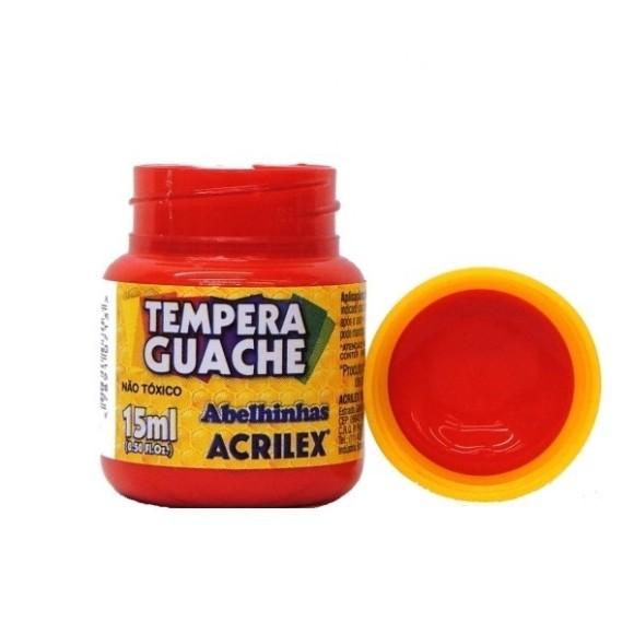 Tinta Guache Acrilex Vermelho Fogo - 15ml