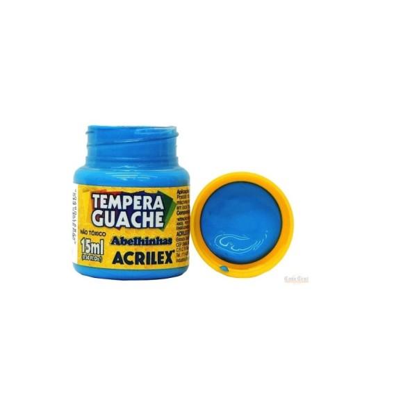 Tinta Guache Acrilex Azul Celeste - 15ml