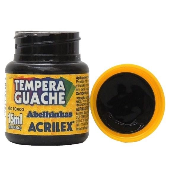 Tinta Guache Acrilex Preto - 15ml