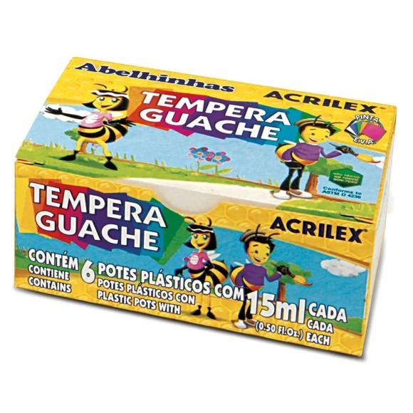 Tempera Guache 6 Cores - Acrilex