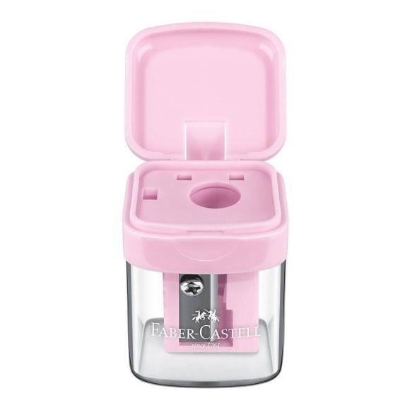 Apontador Com Depósito Minibox Faber Castell - Rosa