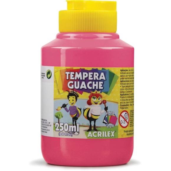 Tinta Guache 250ml Rosa - Acrilex
