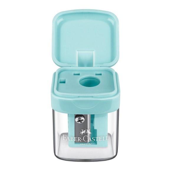 Apontador Com Depósito Minibox Faber Castell - Verde