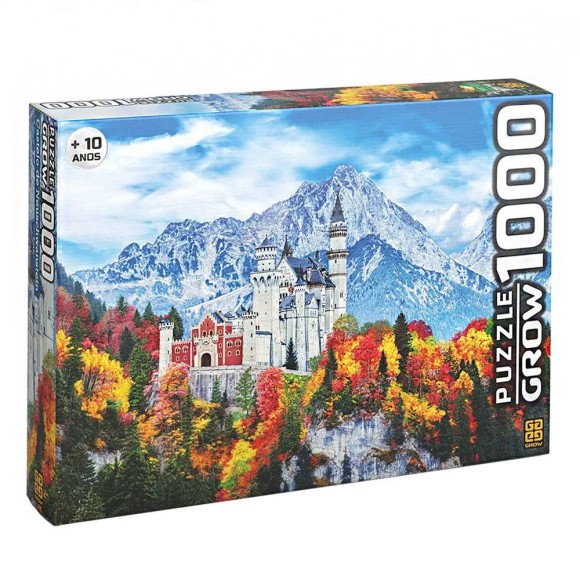 Quebra-cabeça 1000 peças - Castelo de Neuschwanstein - Grow