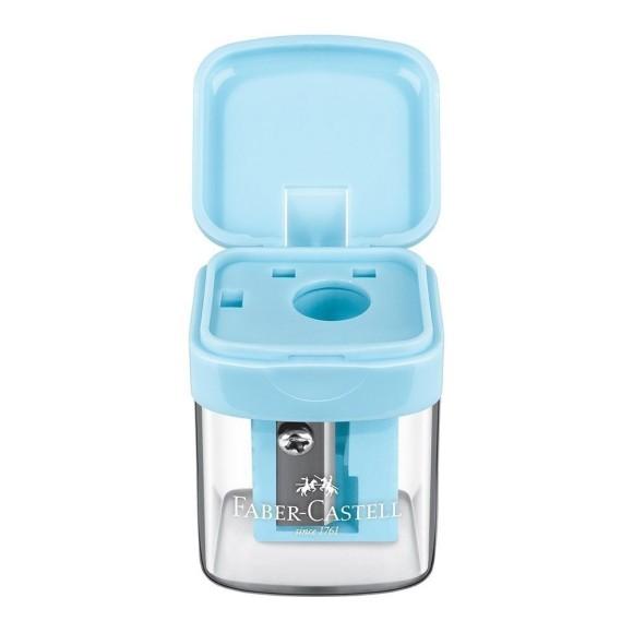 Apontador Com Depósito Minibox Faber Castell - Azul