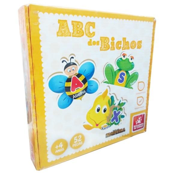 ABC Dos Bichos - 52 Peças - Brincadeira de Criança