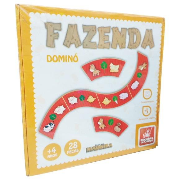 Fazenda Dominó - 28 peças - Brincadeira de Criança