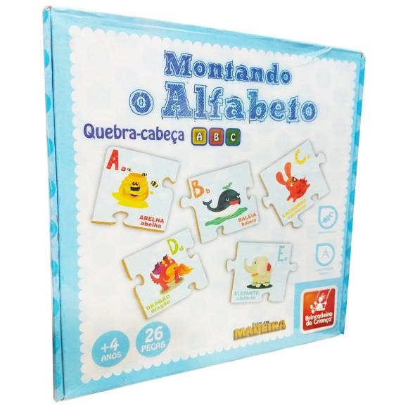 Montando O Alfabeto - Quebra-cabeça ABC - 26 Peças - Brincadeira de Criança