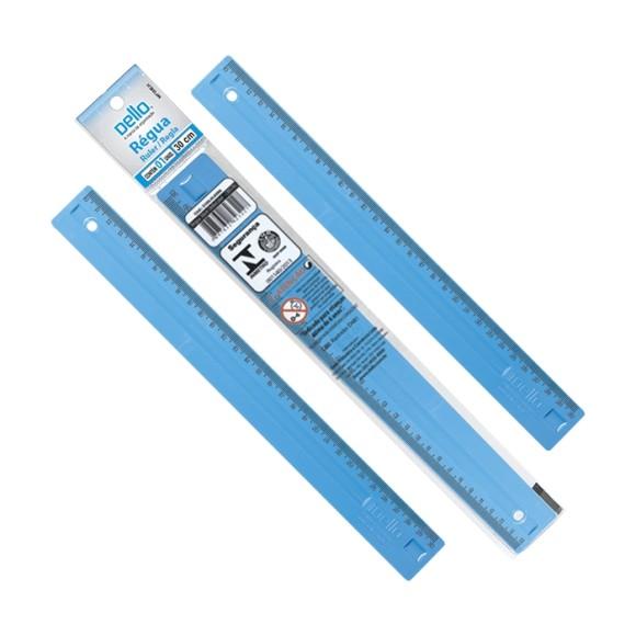 Régua de 30cm DelloCollor - Azul - Dello