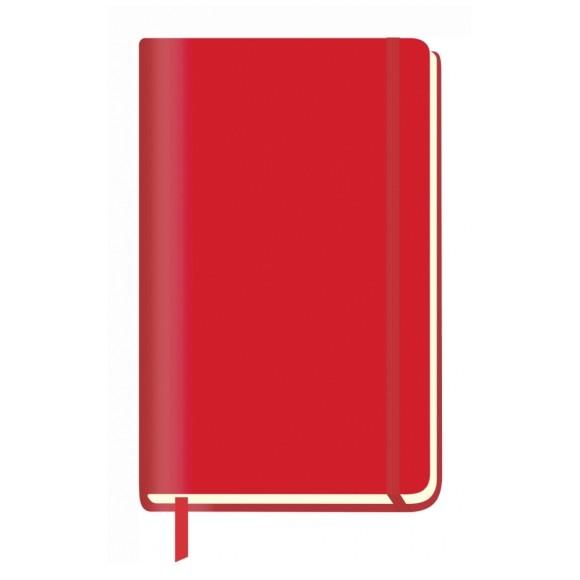 Caderneta de Anotações Grande World Class Pautada - Vermelha - São Domingos