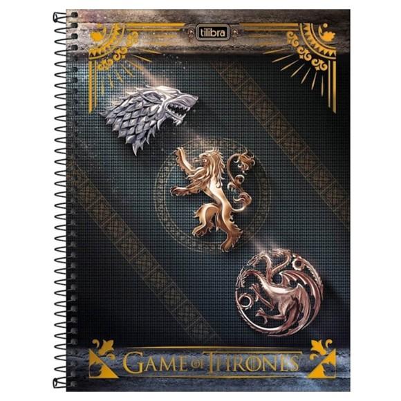 Caderno 1 Matéria Universitário Espiral Game Of Thrones - Escudos - Tilibra