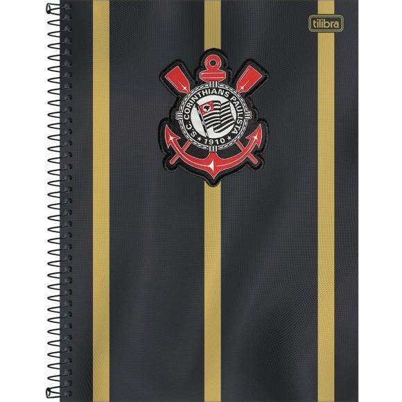 Caderno 10 Matérias Universitário Espiral Corinthians - Tilibra