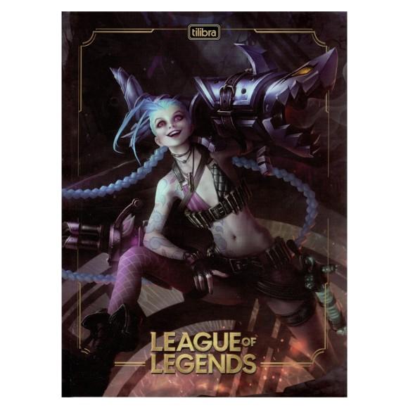 Caderno Brochurão Capa Dura League Of Legends - 80 folhas - Tilibra