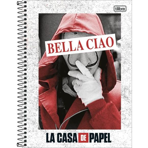 Caderno 10 Matérias Universitário La Casa de Papel - Tilibra