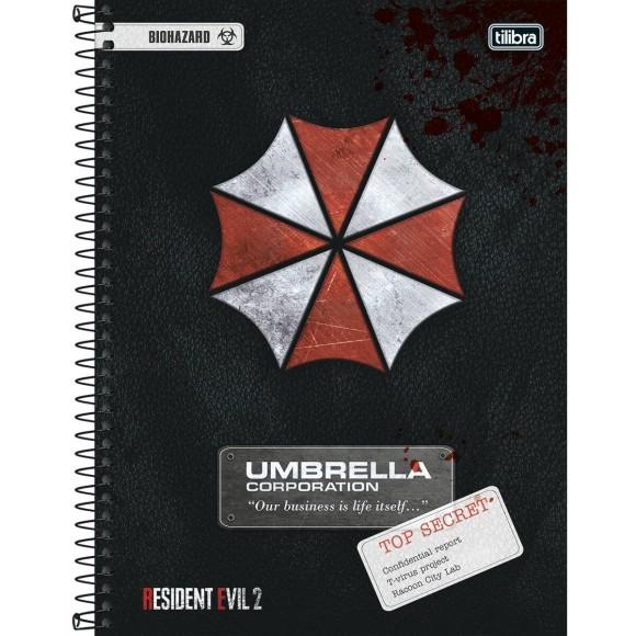 Caderno 10 Matérias Universitário Espiral Resident Evil 2 - Tilibra