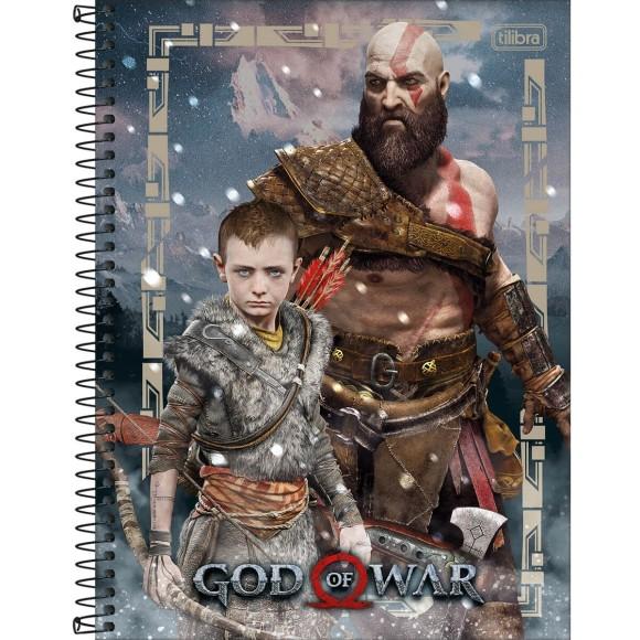 Caderno 10 Matérias Universitário Espiral God Of War - Tilibra