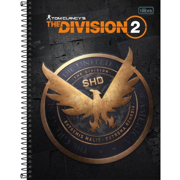 Caderno 10 Matérias Universitário Espiral The Division 2 - Tilibra