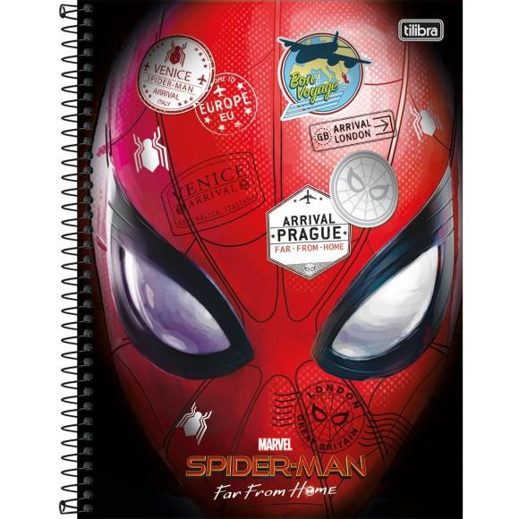 Caderno 1 Matéria Universitário Espiral Homem Aranha - Tilibra
