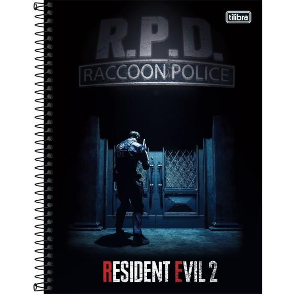 Caderno 1 Matéria Universitário Espiral Resident Evil 2 - Tilibra