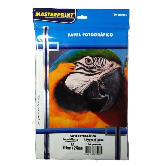 Papel Fotográfico A4 180g/m² - 50 folhas - Masterprint