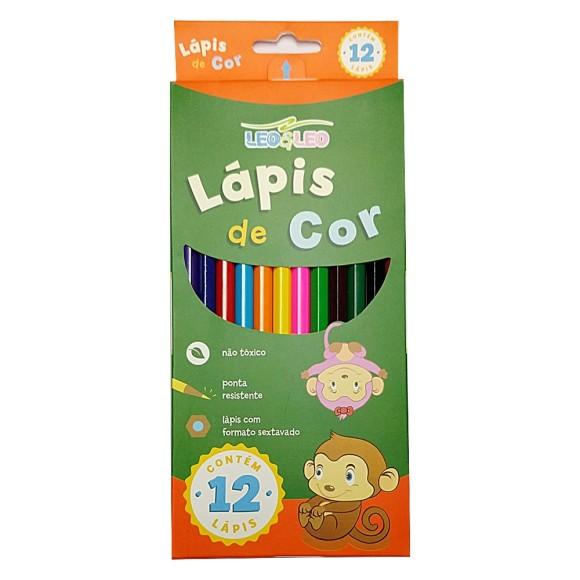 Lápis de Cor - 12 Cores - Leo&Leo