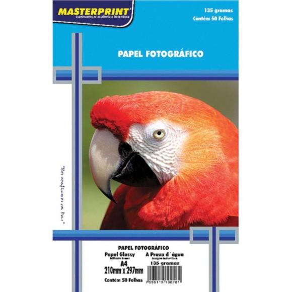 Papel Fotográfico A4 135g/m² - 50 folhas - Masterprint