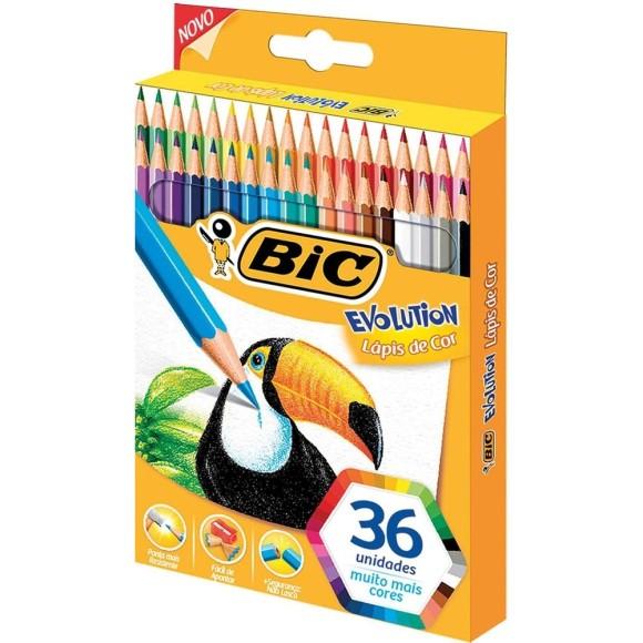 Lápis de Cor Evolution - 36 cores - Bic