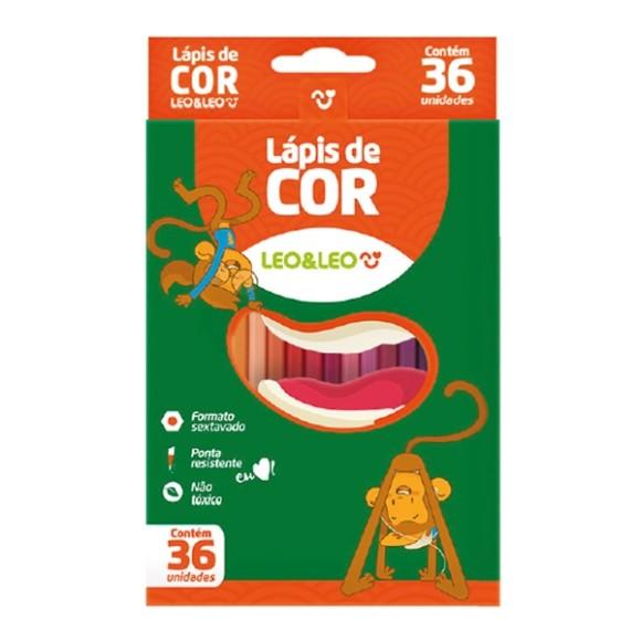 Lápis de Cor - 36 Cores - Leo&Leo