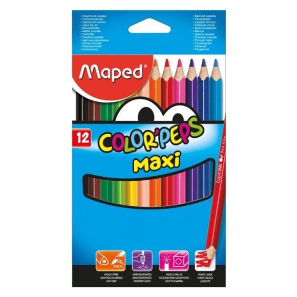 Lápis de Cor - 12 Cores - Color'Peps Maxi - Maped